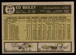 1961 Topps #418  Ed Bailey  Back Thumbnail