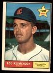 1961 Topps #462  Lou Klimchock  Front Thumbnail