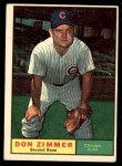 1961 Topps #493  Don Zimmer  Front Thumbnail