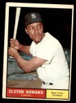 1961 Topps #495  Elston Howard  Front Thumbnail