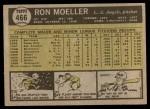 1961 Topps #466  Ron Moeller  Back Thumbnail