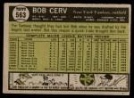 1961 Topps #563  Bob Cerv  Back Thumbnail