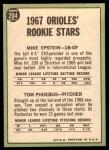 1967 Topps #204   -  Mike Epstein / Tom Phoebus Orioles Rookies Back Thumbnail