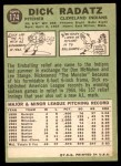 1967 Topps #174  Dick Radatz  Back Thumbnail