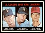 1967 Topps #233   -  Steve Hargan / Joel Horlen / Gary Peters AL ERA Leaders Front Thumbnail