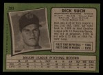 1971 Topps #283  Dick Such  Back Thumbnail