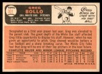 1966 Topps #301  Greg Bollo  Back Thumbnail