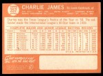 1964 Topps #357  Charlie James  Back Thumbnail