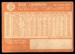1964 Topps #304  Bob Johnson  Back Thumbnail