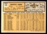 1963 Topps #446  Whitey Ford  Back Thumbnail