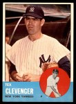 1963 Topps #457  Tex Clevenger  Front Thumbnail