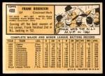 1963 Topps #400  Frank Robinson  Back Thumbnail