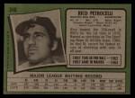 1971 Topps #340  Rico Petrocelli  Back Thumbnail