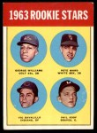 1963 Topps #324   -  Pete Ward / Vic Davalillo / Phil Roof / George Williams Rookie Stars   Front Thumbnail