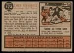 1962 Topps #173 NRM Chico Fernandez  Back Thumbnail