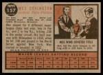1962 Topps #157 NRM Wes Covington  Back Thumbnail