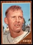 1962 Topps #241  Johnny Kucks  Front Thumbnail
