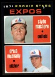 1971 Topps #376   -  Clyde Mashore / Ernie McNally Expos Rookies Front Thumbnail