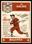 1959 Topps #562   -  Al Kaline All-Star Back Thumbnail