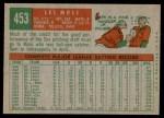 1959 Topps #453  Les Moss  Back Thumbnail