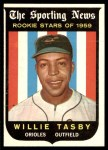 1959 Topps #143  Willie Tasby  Front Thumbnail