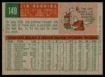 1959 Topps #149  Jim Bunning  Back Thumbnail