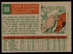 1959 Topps #188  Juan Pizarro  Back Thumbnail