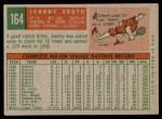 1959 Topps #164  Johnny Groth  Back Thumbnail