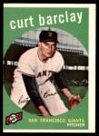 1959 Topps #307  Curt Barclay  Front Thumbnail