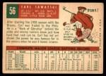 1959 Topps #56  Carl Sawatski  Back Thumbnail