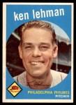 1959 Topps #31  Ken Lehman  Front Thumbnail