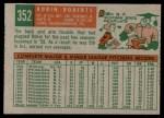1959 Topps #352  Robin Roberts  Back Thumbnail