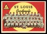 1959 Topps #223   Cardinals Team Checklist Front Thumbnail