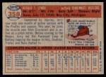 1957 Topps #358  Jerry Lynch  Back Thumbnail