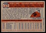 1957 Topps #167  Vic Power  Back Thumbnail