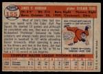 1957 Topps #155  Jim Brosnan  Back Thumbnail
