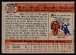 1957 Topps #392  Chuck Tanner  Back Thumbnail