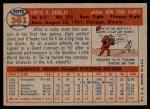 1957 Topps #361  Curt Barclay  Back Thumbnail