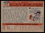 1957 Topps #388  Pete Daley  Back Thumbnail