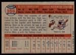 1957 Topps #356  Faye Throneberry  Back Thumbnail