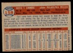 1957 Topps #158  Curt Simmons  Back Thumbnail