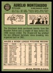 1967 Topps #453  Aurelio Monteagudo  Back Thumbnail