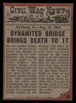 1962 Topps Civil War News #29   Bridge of Doom Back Thumbnail