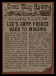 1962 Topps Civil War News #47   Death Battle Back Thumbnail