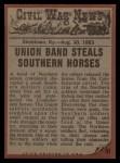 1962 Topps Civil War News #51   Horse Thieves Back Thumbnail