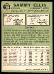 1967 Topps #176  Sammy Ellis  Back Thumbnail