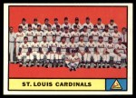 1961 Topps #347   Cardinals Team Front Thumbnail