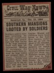 1962 Topps Civil War News #83   The Looters Back Thumbnail