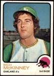 1973 Topps #587  Rich McKinney  Front Thumbnail