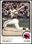1973 Topps #155  Sal Bando  Front Thumbnail